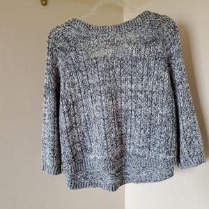 Anthropologie Sweaters - Anthropologie Moth Grey Pocket Crewneck Sweater L